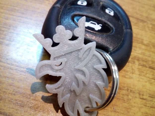 Saab Griffin Keychain
