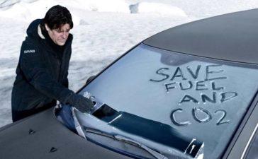 Saab Ice Scraper Funk-Is To Reduce CO2