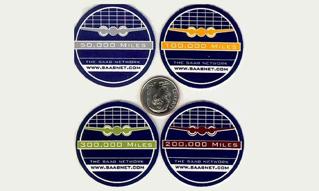 Saab Mileage Badge Decals