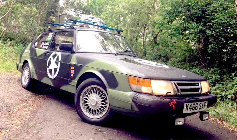 Saab Nuts at Rally