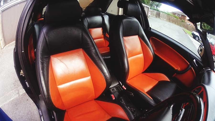 Saab rare Ochre interior