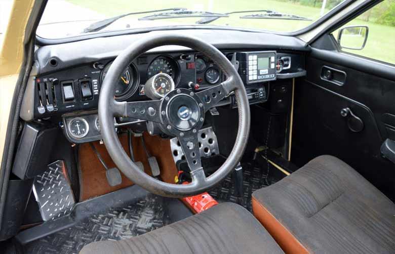 Saab 96 Rally interior
