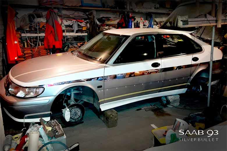 """Saab 9-3 Turbo """"Silverbullet"""" Restomod Project From Tallinn"""