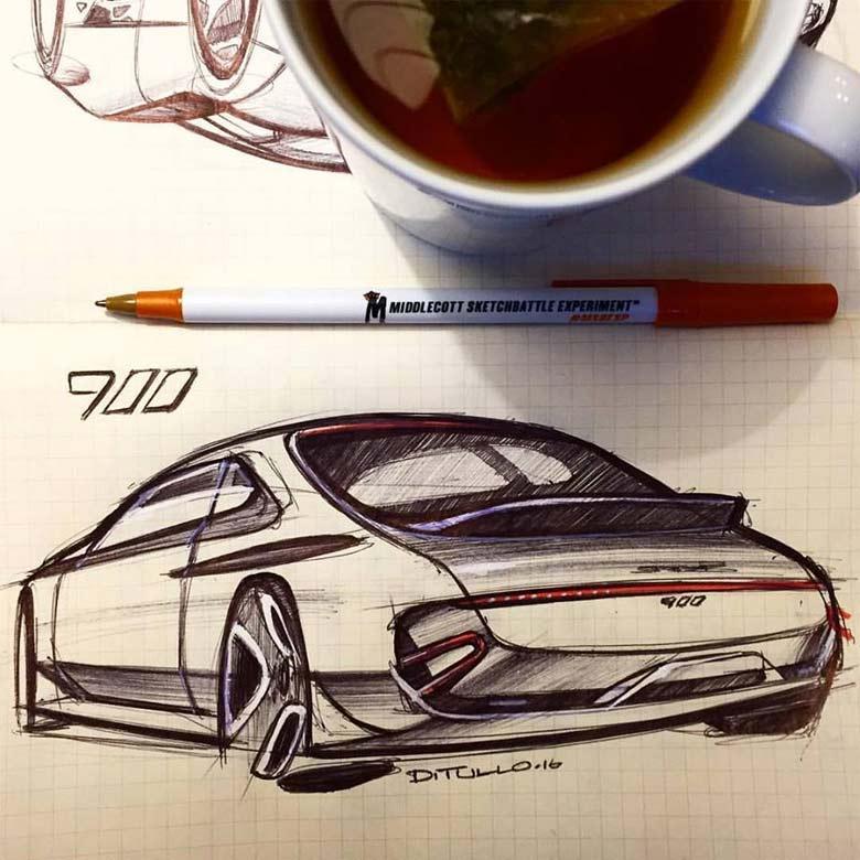 Saab 900 Sketch