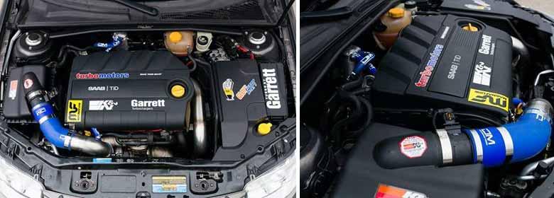 Super Tuned Saab TiD Engine