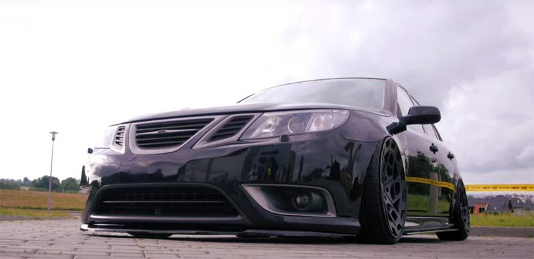 Slammed Saab Turbo X