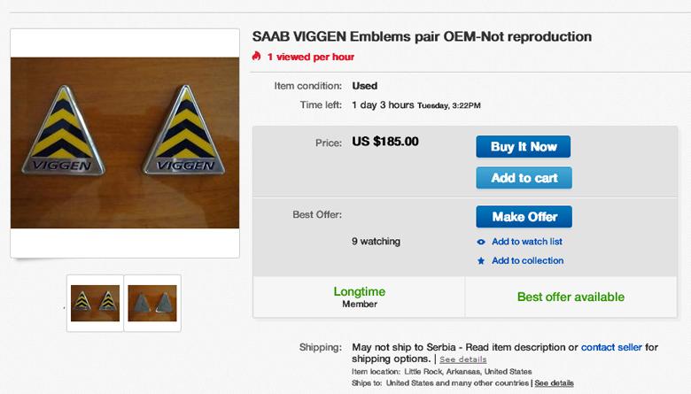 Saab Viggen Emblems