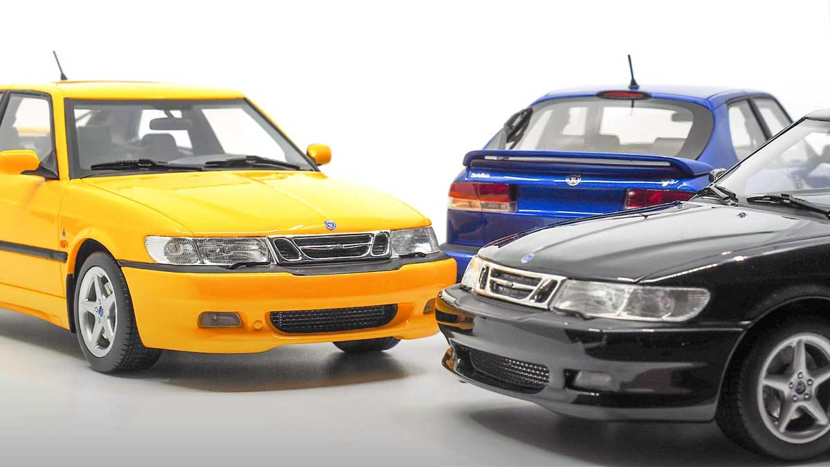The Saab 9-3 Viggen Coupe 1998 1/18 Scale Model