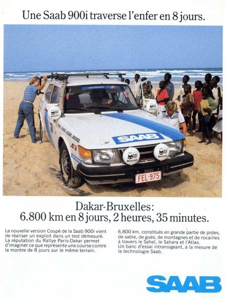 Saab 900 advert