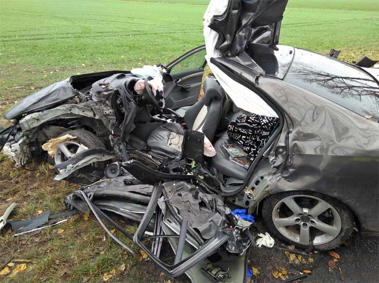 Saab after accident