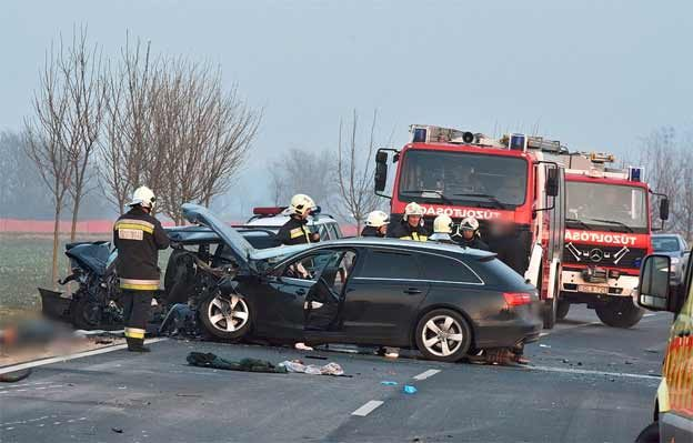 Saab and Audi collided head-on accident