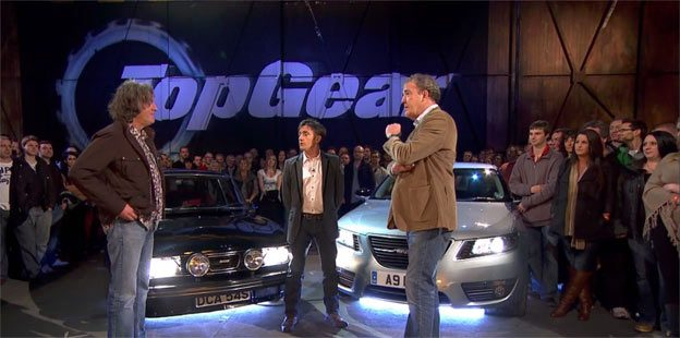 """Top Gear"" team and Saabs"
