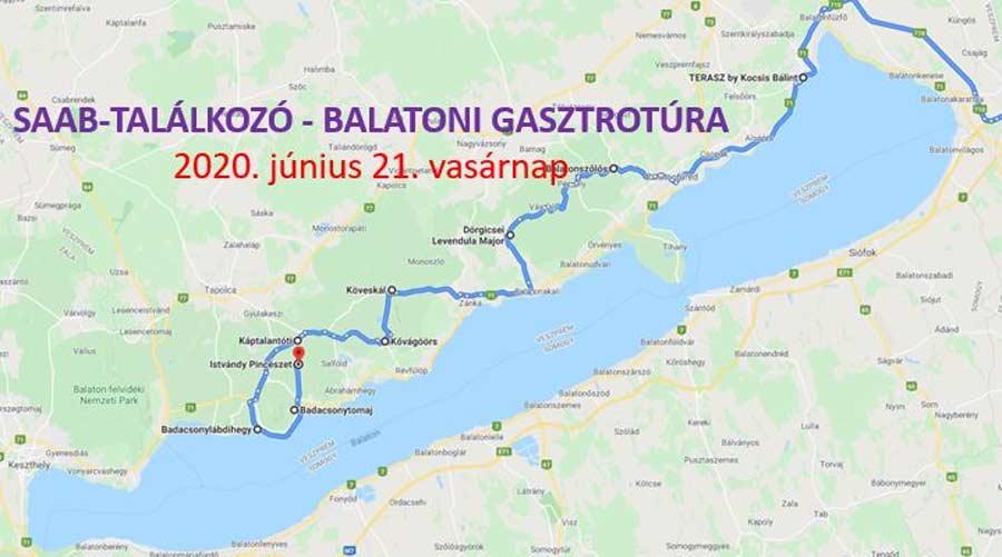 SAAB találkozó - Balatoni Gasztrotúra