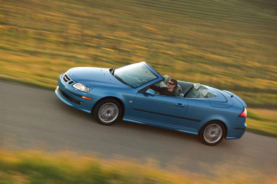 LOOKING GOOD: The Saab 9-3 might be one sleek machine but there were other dangerous curves to negotiate and admire that night