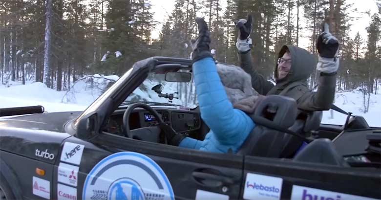 Saab cabrio North Pole
