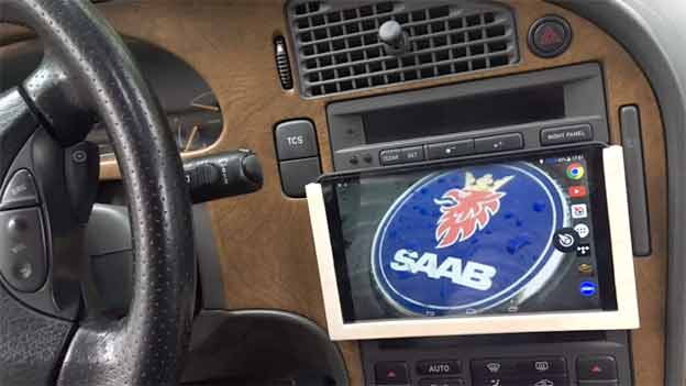 Car Tablet Mount for Saab