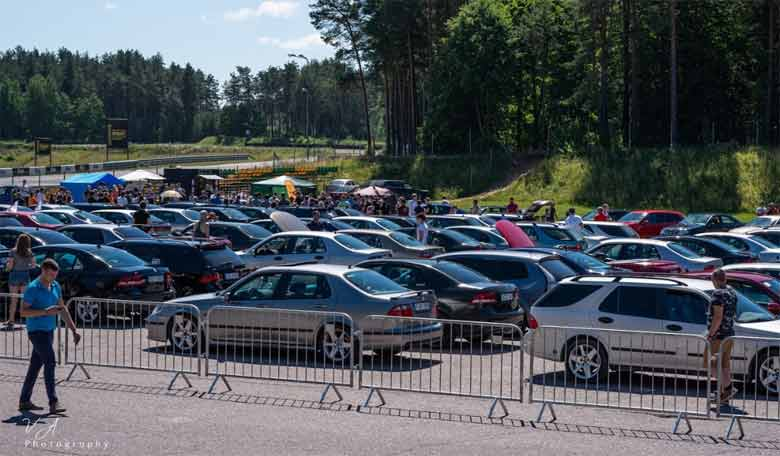 Saab cars gathering