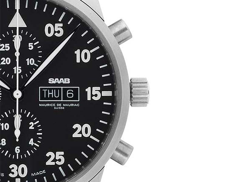 Saab chronograph watch