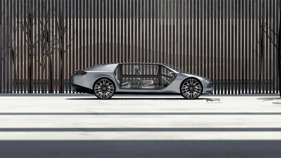 What could be a visual icon for future electric  Saab