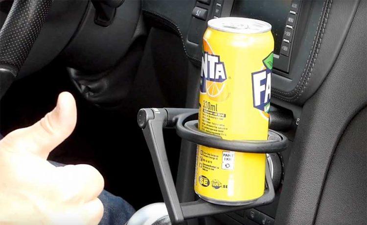 Saab cup holder upgrade
