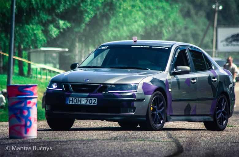 Saab drag racing