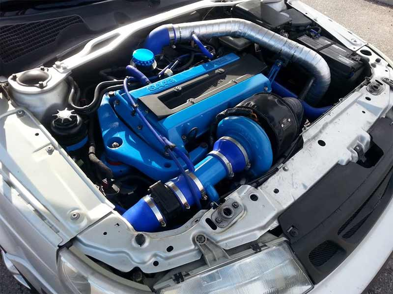 Saab engine bay