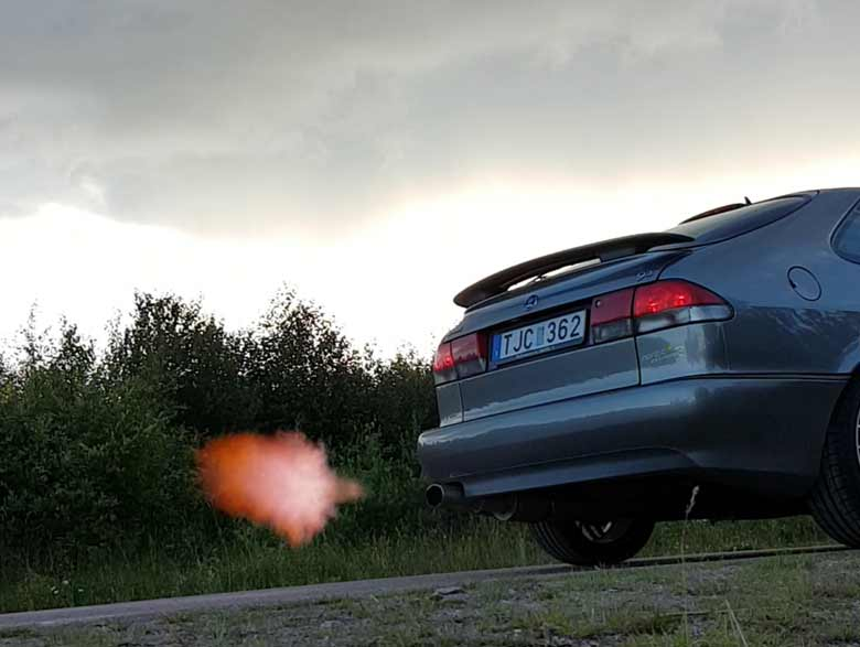 Saab fire-breathing