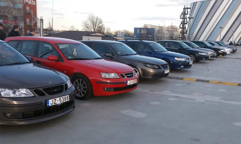Saab Gang from Latvia