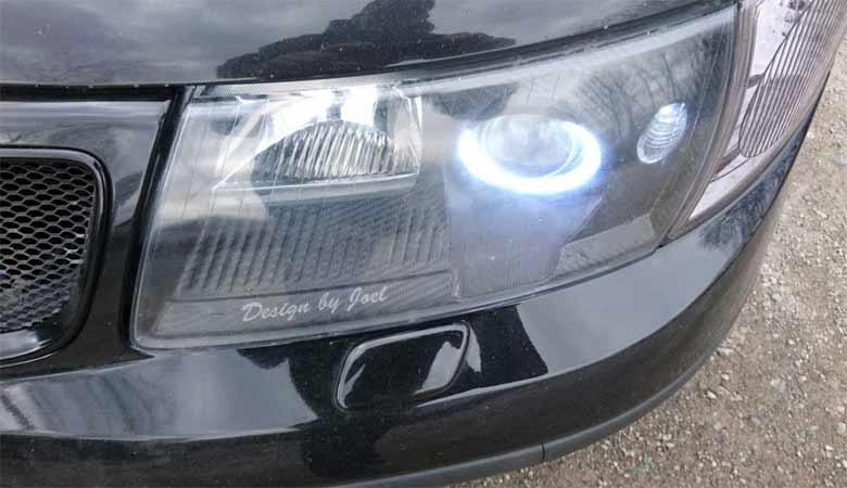 Saab Custom Headlightsq