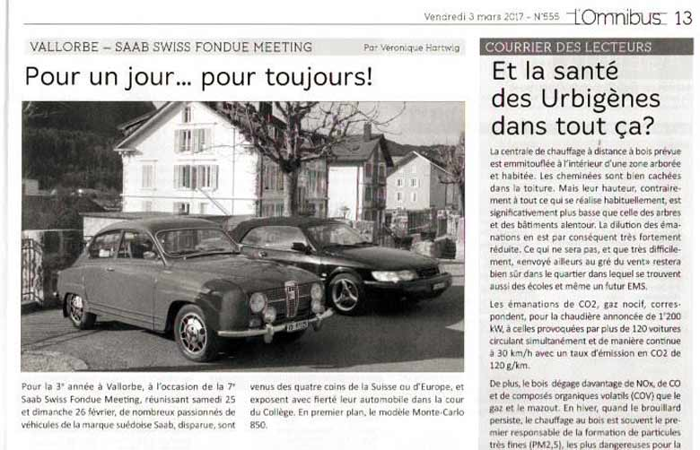report from this Saab event in local Newspaper