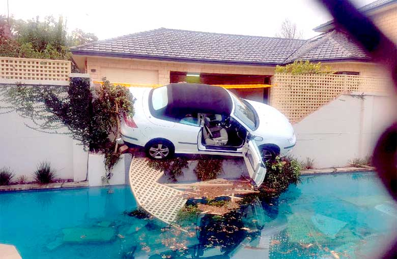 Saab landed into the Pool