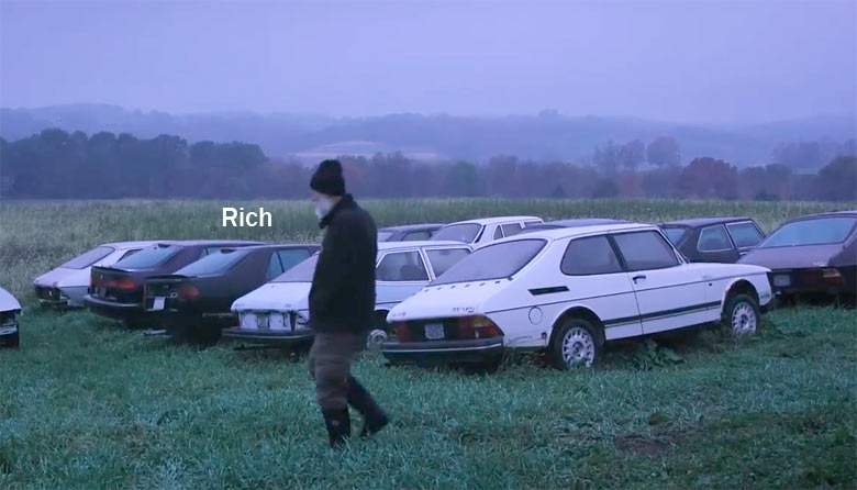Saab owner Rich at Saab farm