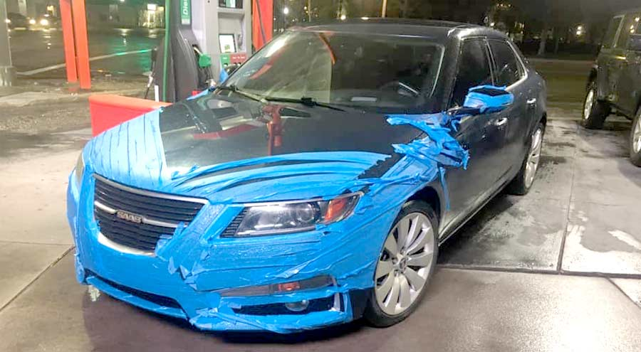 Saab paint protection