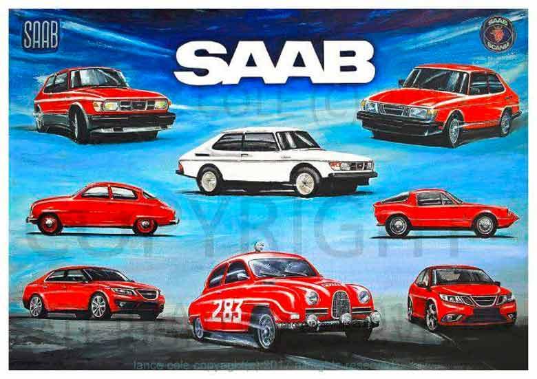 Saab cars posters
