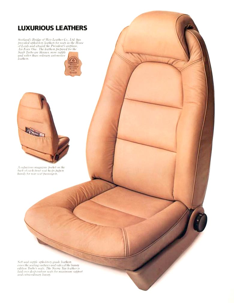 Luxury Saab leather seats