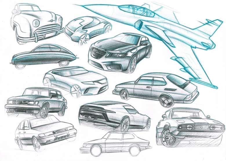 Saab sketches