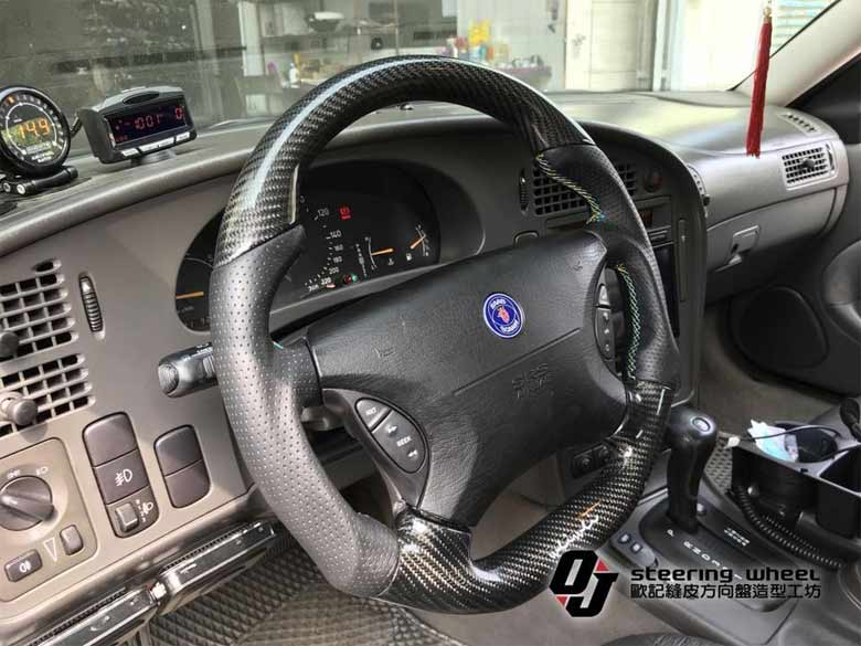 Custom Saab steering wheels
