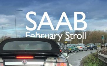 Saab February stroll