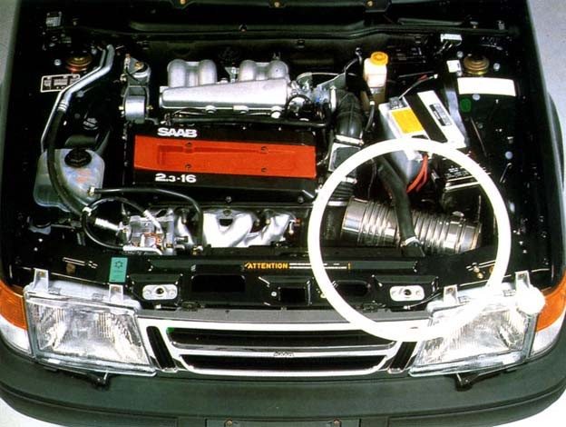 Saab 2.3 engine with Thermos