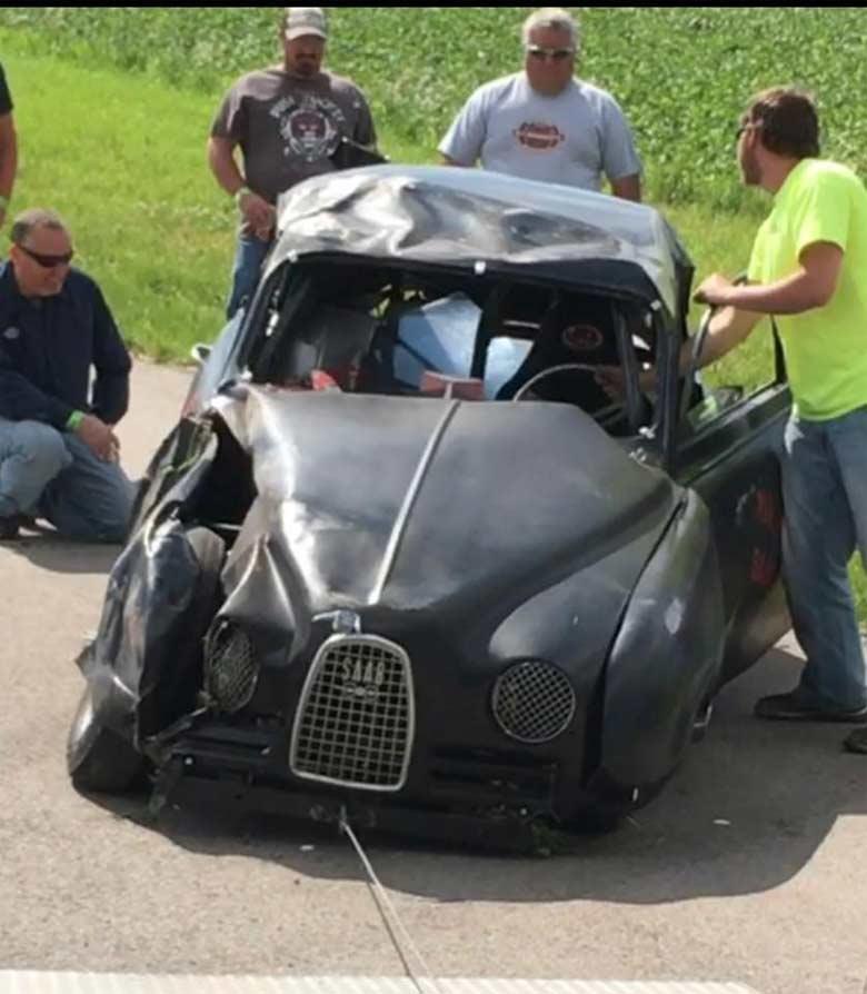 Saab wrack