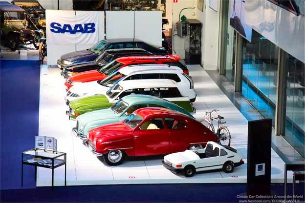 Saabs at Autoworld