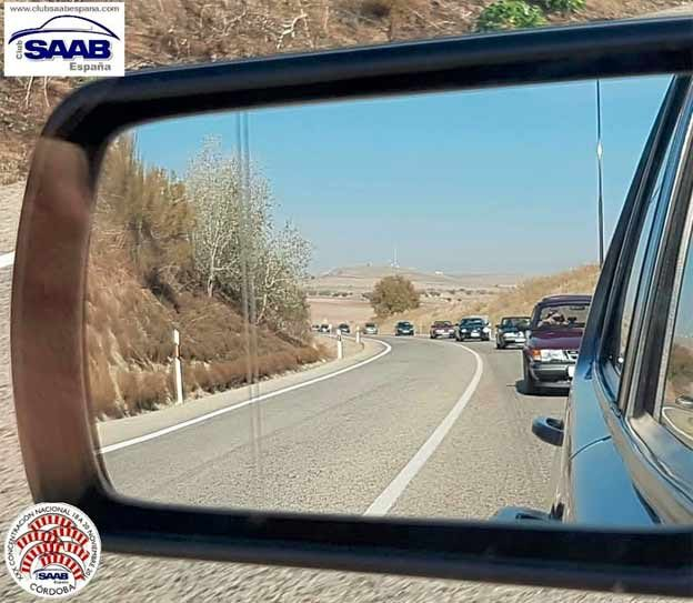 Saabs in mirror