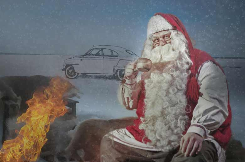 Santa Claus and Saab