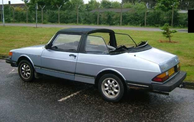 """Second (blue) Saab 900 Targa by Lynx Engineering,  that was not supposed to """"survive"""""""