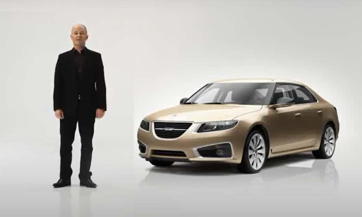 Simon Padian in 2010 Saab 9 5 NG promo intro
