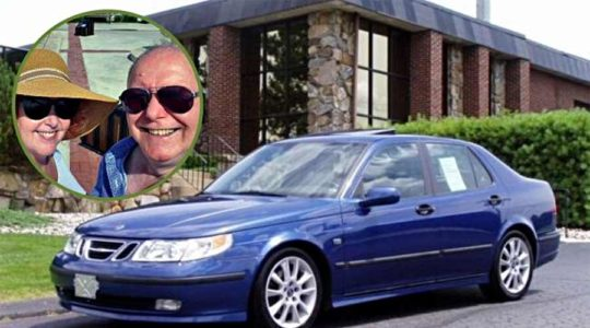 Saab is stolen from family's village driveway