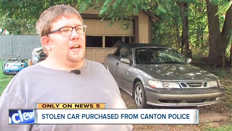 He bought Stolen Saab from police