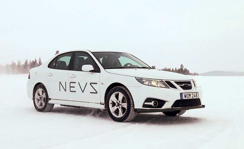 The NEVS 9-3 Undergoes Winter Testing
