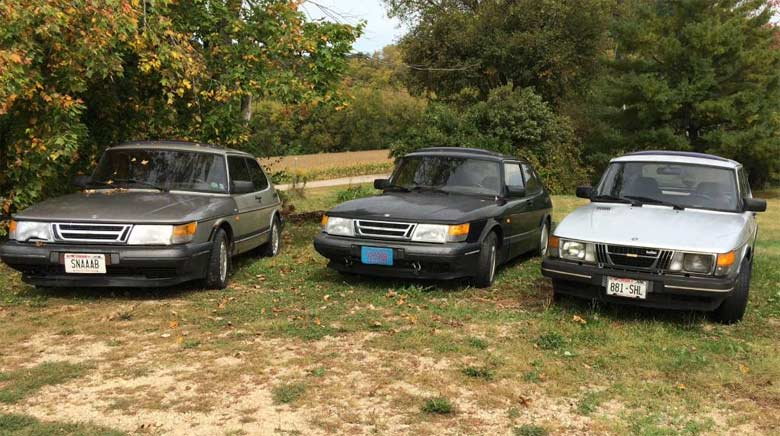 Three Saab 900 Turbo for Sale