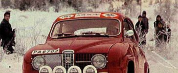 Tom Trana in Saab 96